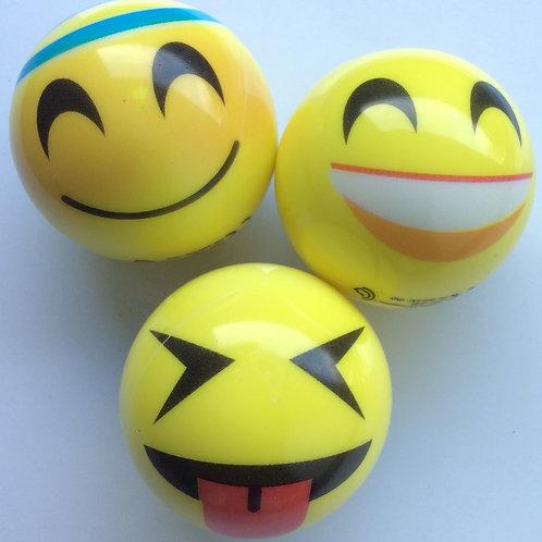 Smilie-Bälle, Set bestehend aus 3 Bällen