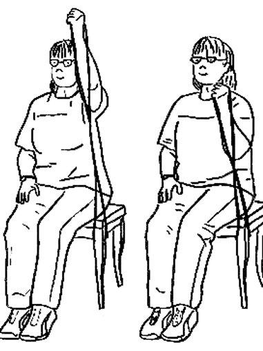 Postenkarten Alltagsmaterial Bürogummi «Auf dem Stuhl - SeniorInnen»