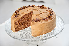Coffee and Walnut Buzz Cake