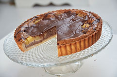 Pear chocolate and Hazelnut tart