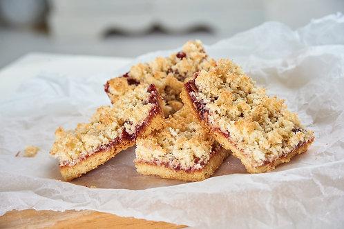 Raspberry Jam and Coconut Slice
