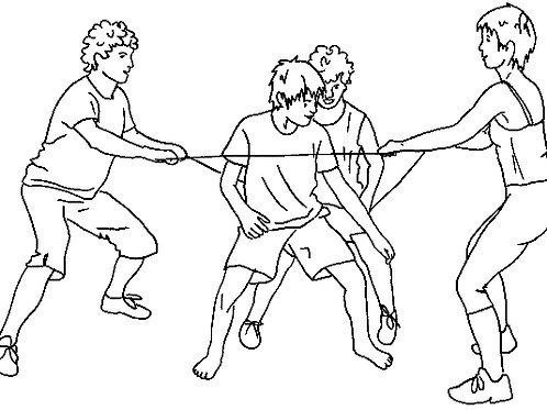 Postenkarten Springseil «Reaktionsfähigkeit mit dem Seil»