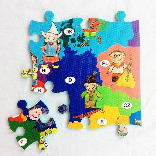 Puzzle-Teppich Europa