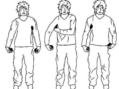 Postenkarten Jonglieren «Einführung ins Jonglieren mit 3 Bällen»