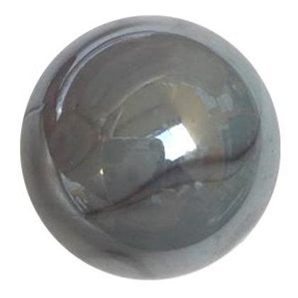 20 Glas-Murmeln  22 - 25 mm «elektrischeer Aal»