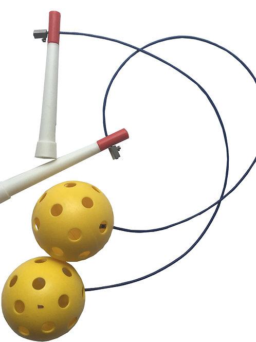 Seilspringen: Schwungkugeln