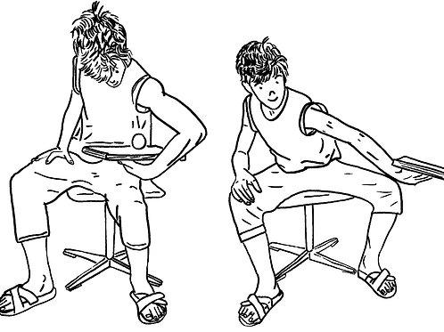 Bewegungspause mit Buch und Ball, laminiert