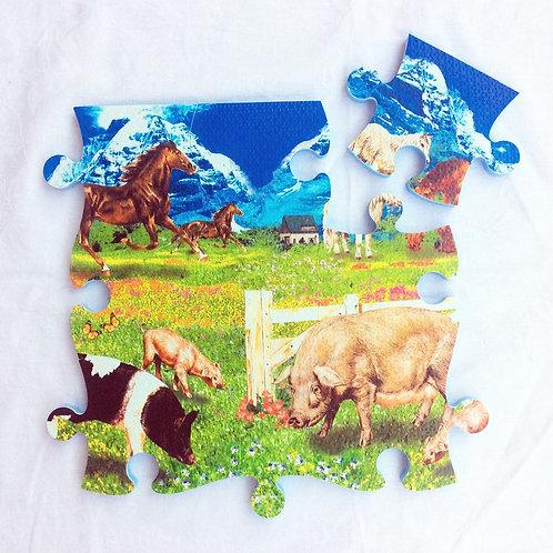 Puzzle-Teppich Bauernhof