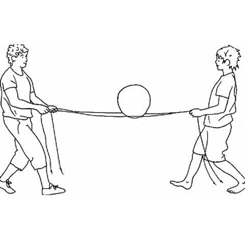 Postenkarten Springseil «Gleichgewichtsfähigkeit mit dem Seil»