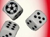 16 mm Würfel «Fussball» 10 Stück