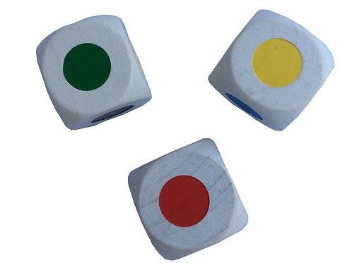 Farbwürfel, 30 mm - Holz