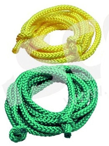 Seilspringen: Double Dutch Rope gelb & grün (Paar)