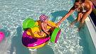 water roller, kalandpark, medence, pool, inflatable, felfújható, waterball, water-ball, water ball, vizidodgem, bumper, paddler, boat, csónak, vizicsopper, vizidodzsem, dodgem, dodzsem, gokart, játék