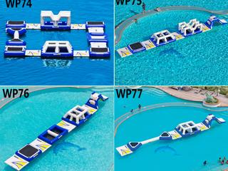 Felfújható Water Park medencébe és nyílt vízre. Új design!