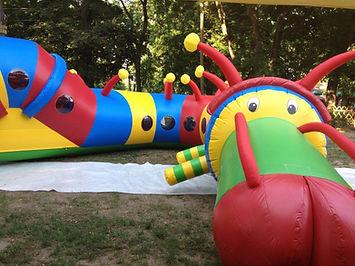 kukac, akadálypálya, felfújható, játék, slide, combo,légvár, castle, inflatable, vár, felfújható, ugráló, csúszda