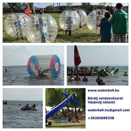 henger, waterroller, roller,banan,  bérbe, bérelhető, bérlés, water-ball, waterball.hu, waterball, water ball, medence, felfújható, játék