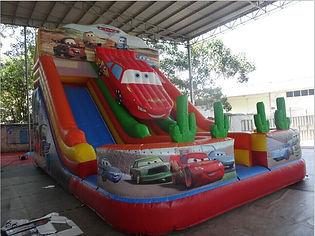 légvár, csúszda, felfújható, combo, slide, autós csúszda, car slide