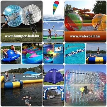 water ball, akciós játék, előrendelhető, kalandpark építés, water park építés, vizi játék, légvár