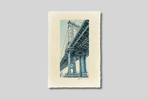 手漉き和紙,写真,インテリア,ニューヨーク,マンハッタンブリッジ,橋,おしゃれ,インテリアフォト,風景,アート,モダン,プレゼント,ギフト,ハガキサイズ,部屋飾り