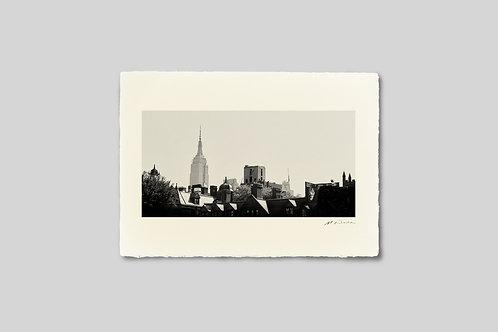 写真,ニューヨーク,街並み,マンハッタン,インテリア,手漉き和紙,風景,エンパイアステートビル,ポスター,インテリアフォト,大きいサイズ,額装,モノクロ,和室,オリジナルプリント,アート,おしゃれ,モダン,壁掛け,プレゼント