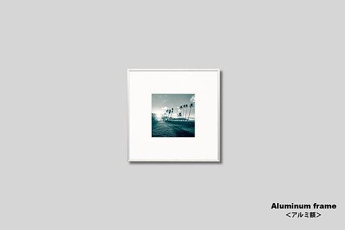インテリア,写真,ハワイ,自然,海,ヤシの木,ビーチ,インテリアフォト,アート,額入り,額装,正方形,オリジナルプリント,アートフレーム,フォトフレーム,おしゃれ,モダン,壁掛け,壁飾り,装飾,ウォールアート,新築祝い