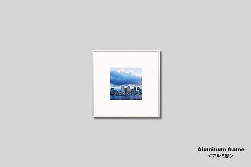 インテリア,写真,ハワイ,海,ワイキキ,街並み,インテリアフォト,風景,正方形,アート,額入り,額装,オリジナルプリント,アートフレーム,フォトフレーム,おしゃれ,モダン,壁掛け,壁飾り,装飾,ウォールアート,新築祝い