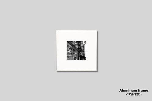 ニューヨーク,写真,インテリア,グリニッジビレッジ,風景,マンハッタン,街並み,インテリアフォト,アート,額入り,額装,モノクロ,壁掛け,壁飾り,正方形,アートフレーム,フォトフレーム,おしゃれ,モダン,プレゼント,ウォールアート