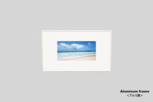 ハワイ,海,ビーチ,自然,砂浜,インテリア,写真,風景,インテリアフォト,アート,額入り,額装,オリジナルプリント,アートフレーム,フォトフレーム,おしゃれ,モダン,壁掛け,壁飾り,装飾,ウォールアート,新築祝い