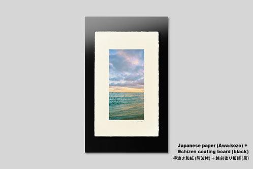 手漉き和紙,インテリアフォト,ハワイ,風景写真,海,南国,アート,壁掛け,アートフレーム,おしゃれ,額装,アートポスター,壁飾り