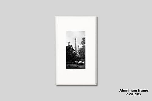 インテリア,写真,ニューヨーク,セントラルパーク,風景,マンハッタン,ビル群,インテリアフォト,アート,額入り,額装,オリジナルプリント,モノクロ,アートフレーム,フォトフレーム,おしゃれ,モダン,プレゼント,壁掛け,壁飾り,新築祝い