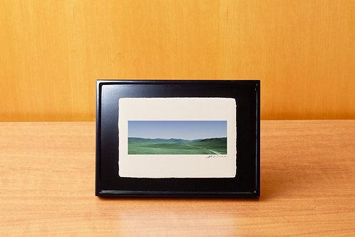 手漉き和紙,写真,風景,モンゴル,草原,自然,インテリアフォト,アートフレーム,おしゃれ,モダン,卓上額,置き型,装飾オリジナルプリント,フォトフレーム,プレゼント,ギフト