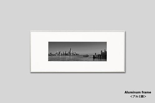 ニューヨーク,マンハッタン,写真,インテリア,モノクロ,横長,額入り,壁掛け,アート,プレゼント,おしゃれ,オリジナルプリント,アートフレーム