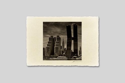 手漉き和紙,写真,インテリア,ニューヨーク,マンハッタン,ビル群,エンパイアーステートビル,おしゃれ,インテリアフォト,風景,アート,モダン,プレゼント,ギフト,ハガキサイズ,部屋飾り