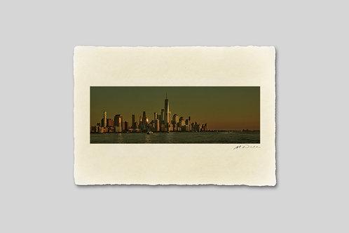 ニューヨーク/夕暮れのマンハッタン ワールドトレードセンター|掛け変え用写真