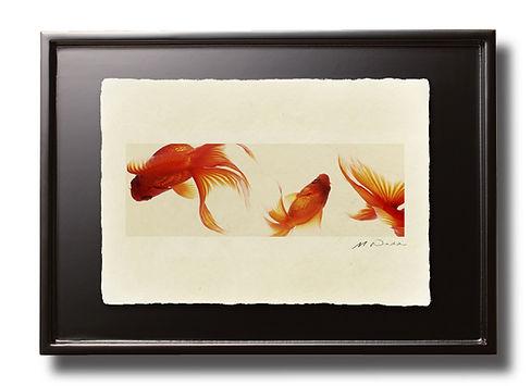 小型のインテリア:手漉き和紙 写真 和室 卓上額 インテリアフォト 額装 額入り アート