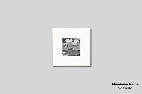 インテリア,写真,ハワイ,風景,海,空,モノクロ,正方形,ラビットアイランド,インテリアフォト,アート,額入り,額装,オリジナルプリント,アートフレーム,フォトフレーム,おしゃれ,モダン,壁掛け,壁飾り,装飾,ウォールアート,新築祝い