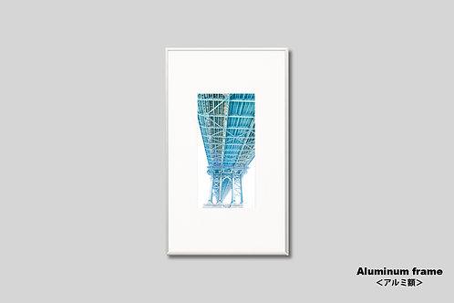 ニューヨーク,橋,写真,インテリア,マンハッタンブリッジ,インテリアフォト,縦型,アート,額入り,額装,オリジナルプリント,アートフレーム,フォトフレーム,おしゃれ,モダン,プレゼント,壁掛け,壁飾り,装飾,ウォールアート,新築祝い