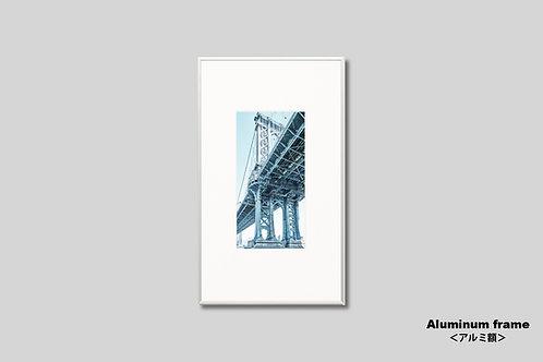 橋,写真,マンハッタンブリッジ,ニューヨーク,インテリア,風景,インテリアフォト,アート,額入り,額装,オリジナルプリント,縦型,アートフレーム,フォトフレーム,おしゃれ,モダン,プレゼント,壁掛け,壁飾り,ウォールアート,新築祝い