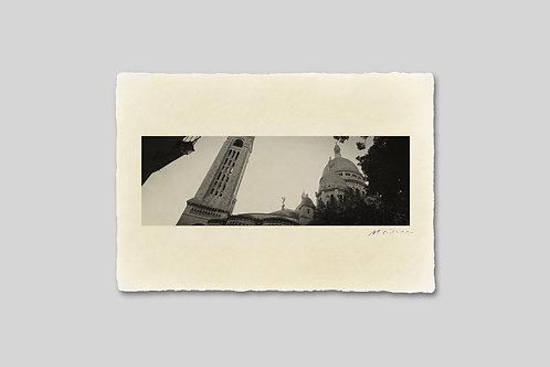 手漉き和紙,写真,風景,フランス,パリ,サクレ・クール寺院,インテリアフォト,アートフレーム,おしゃれ,モダン,卓上サイズ,部屋飾り,装飾,オリジナルプリント,フォトフレーム,プレゼント,ギフト