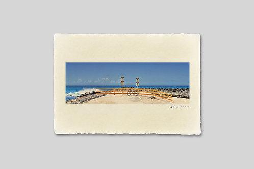 手漉き和紙,写真,風景,海,ハワイ,ビーチ,南国,インテリアフォト,アートフレーム,おしゃれ,モダン,卓上サイズ,部屋飾り,装飾,オリジナルプリント,フォトフレーム,プレゼント,ギフト