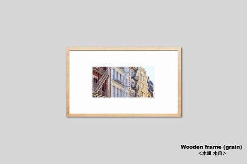 ニューヨーク,ソーホー,写真,街並み,風景,マンハッタン,インテリアフォト,アート,額入り,額装,オリジナルプリント,アートフレーム,フォトフレーム,おしゃれ,モダン,プレゼント,壁掛け,壁飾り,装飾,ウォールアート,新築祝い