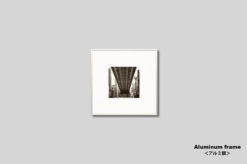 ニューヨーク,インテリア,写真,マンハッタン,クィーンズボロブリッジ,ビル群,インテリアフォト,正方形,アート,額入り,額装,オリジナルプリント,アートフレーム,フォトフレーム,おしゃれ,モダン,プレゼント,壁掛け,壁飾り,,新築祝い