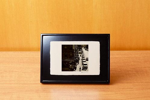 手漉き和紙,写真,風景,ニューヨーク,マンハッタン,街並み,おしゃれ,インテリアフォト,アートフレーム,モダン,卓上額,置き型,装飾,オリジナルプリント,フォトフレーム,プレゼント,ギフト