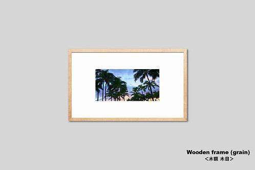 ハワイ,ヤシの木,トロピカル,写真,南国,リゾート,インテリア,風景,インテリアフォト,アート,額入り,額装,オリジナルプリント,アートフレーム,フォトフレーム,おしゃれ,モダン,壁掛け,壁飾り,装飾,ウォールアート,新築祝い