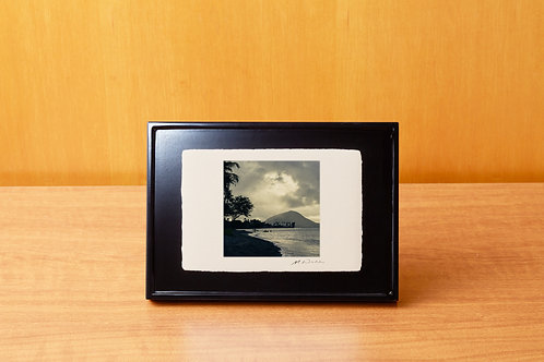 手漉き和紙,写真,風景,海,ハワイ,ビーチ,ヤシの木,南国,インテリアフォト,アートフレーム,おしゃれ,モダン,卓上額,置き型,装飾オリジナルプリント,フォトフレーム,プレゼント,ギフト