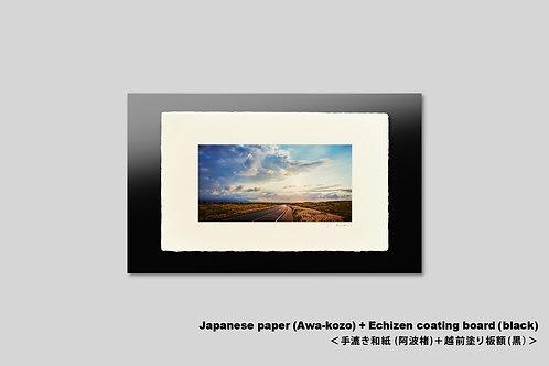 手漉き和紙,インテリアフォト,ハワイ,風景写真,海,ハワイ島,道,アート,壁掛け,アートフレーム,おしゃれ,額装,アートポスター,壁飾り