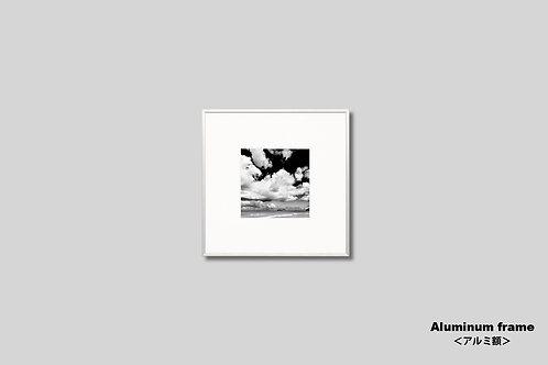 インテリア,写真,ハワイ,海,空,雲,インテリアフォト,モノクロ,正方形,アート,額入り,壁掛け,壁飾り,額装,オリジナルプリント,アートフレーム,フォトフレーム,おしゃれ,モダン,装飾,ウォールアート,新築祝い