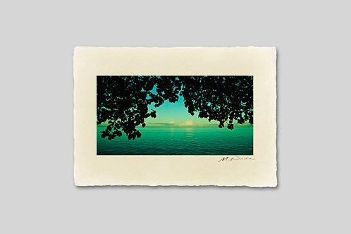 手漉き和紙,写真,風景,海,ニューカレドニア,ビーチ,南国,インテリアフォト,卓上サイズ,アートフレーム,おしゃれ,モダン,部屋飾り,装飾,オリジナルプリント,プレゼント,ギフト
