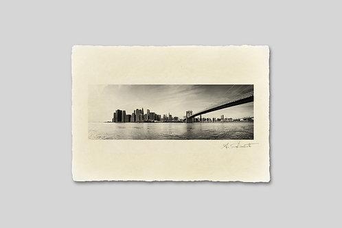 手漉き和紙,写真,風景,ニューヨーク,マンハッタン,ブルックリン橋,インテリアフォト,卓上サイズ,アート,おしゃれ,モダン,部屋飾り,装飾,オリジナルプリント,アートフレーム,プレゼント,ギフト