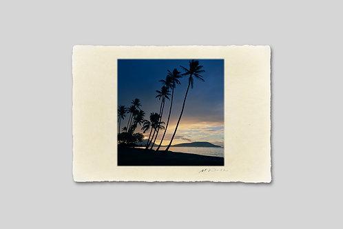 手漉き和紙,写真,風景,海,ハワイ,ビーチ,ヤシの木,南国,インテリアフォト,アートフレーム,おしゃれ,モダン,卓上サイズ,部屋飾り,装飾,オリジナルプリント,フォトフレーム,プレゼント,ギフト